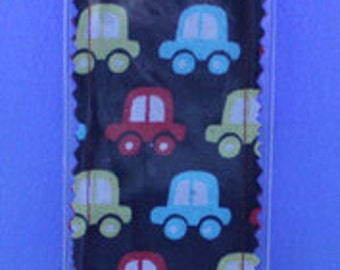 Fun Cars Fabric Bookmark With Vinyl Cover