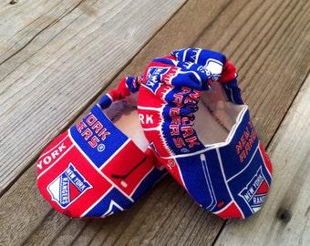 New york Rangers baby booties, new york rangers baby shoes
