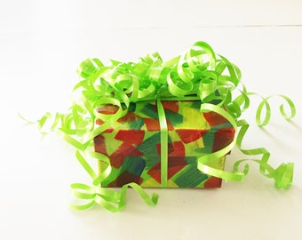 5 Gift Boxes,Hand Painted, Jewelry Boxes, Gift Boxes, Confetti Inspired Gift Boxes, Fun Gift  Boxes