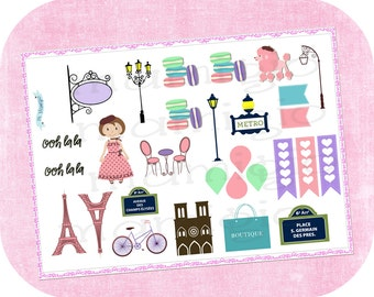 Stickers Paris themed