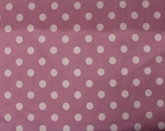 Light Pink Polka Dot on Pink KNIT by Stenzo Textiles, Premium Euro Cotton - Spandex Jersey Knit, Netherlands