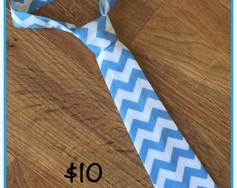 Blue Chevron Little Boy Neck Tie / necktie