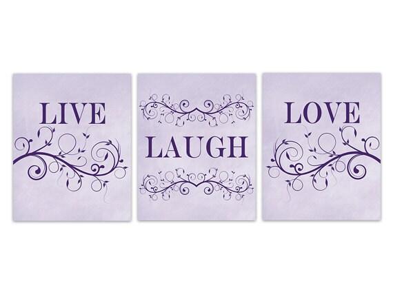 home decor canvas live laugh love art lavender chalkboard