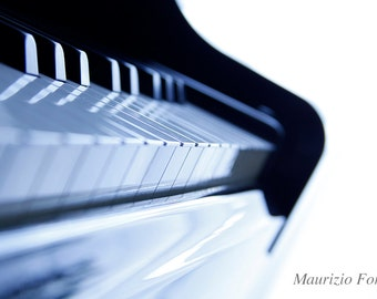 Piano keyboard (musical instrument still life)