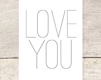 Sweet and Simple Love You greeting card