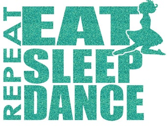 Eat Sleep Irish Dance Iron On Decal