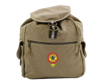 Dawn Of The Dead: Wgon Tv Logo Vintage Canvas Backpack
