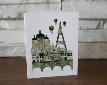 Eiffel Tower Note Cards Paris Note Cards