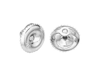 Replacement Earring Screw Back 14 Karat Yellow Gold, White Gold and Rose Gold