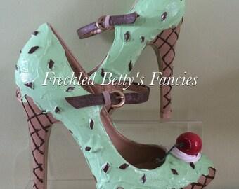 Mint Ice cream heels