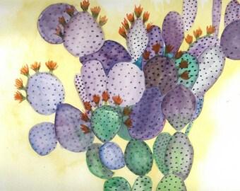 Purple Prickly Pear - Print