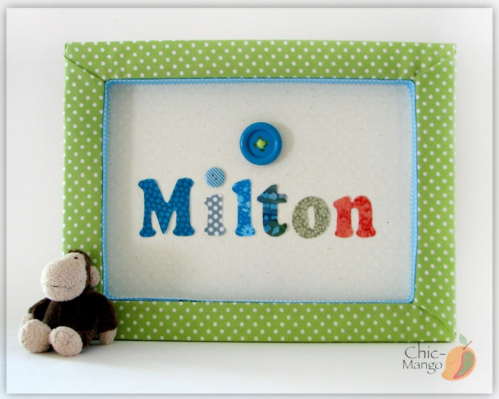 Personalized baby gift wall art for boy kids room decor for Personalized kids room decor