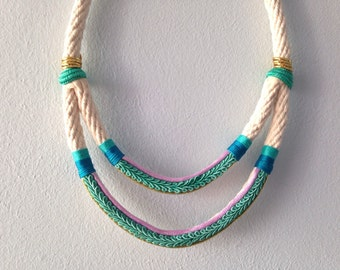 Azure Water Rope Necklace