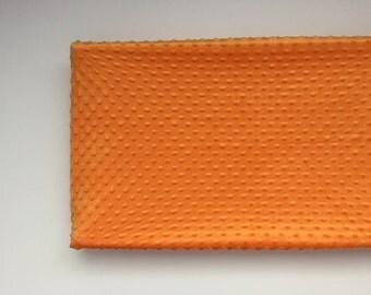 Minky Changing Pad Cover - Orange