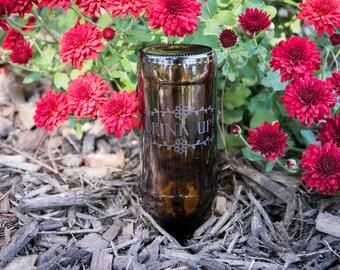 Gravity-Fed Plant Waterer   Customized Beer Bottle Waterer