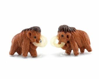Pair of Mammoth Stud Earrings