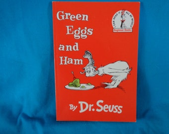 vintage 1988 Green Eggs and Ham book by Dr. Seuss