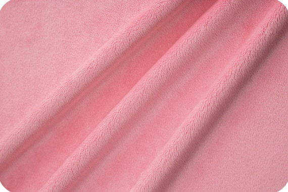 Solid Cuddle Minky Fabric by Shannon Fabrics, Paris Pink