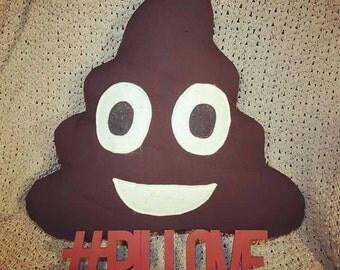 Poop Emoji Pillow