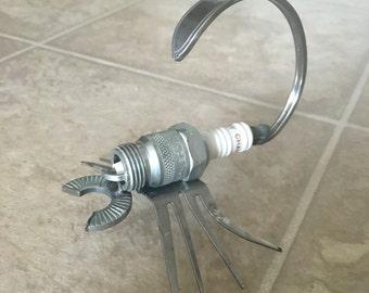 Scorpion Sparkplug Handmade Metal Art