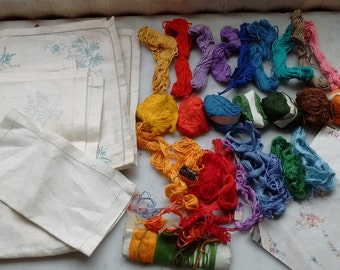 Vintage embroidery Cloth,Patterns and Cottons
