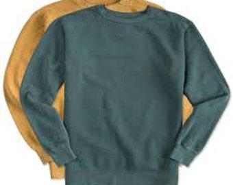 Custom Comfort Colors Crew Sweatshirt