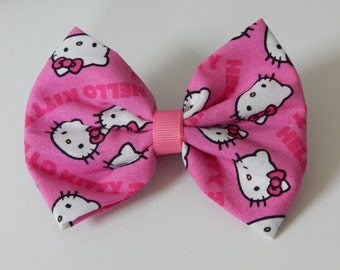 Hello Kitty Inspired Fabric Bow