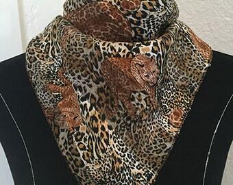 Vintage Cheetah Scarf