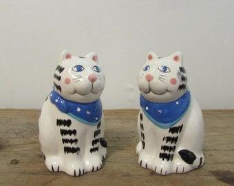 Salt & Pepper Shaker Set, Tabby Cats