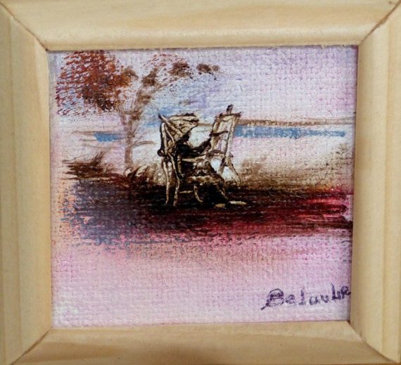 Cyranoartgallery Artist Painter Miniature Oil Painting On Canvas