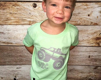 Personalized Monster Truck Tshirt