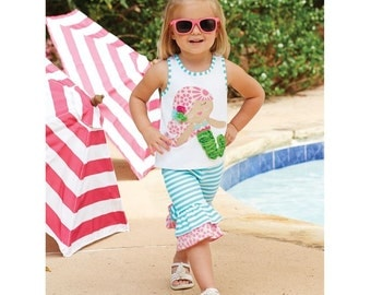 MudPie Mermaid Capri Set