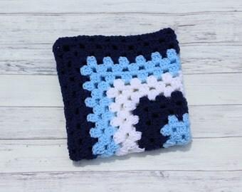 Baby Blanket, Crochet Baby Blanket, Baby Boy Blanket, Blue Baby Blanket, Nursery Blanket, Crochet Baby Afghan, Crib Blanket