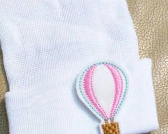 Newborn Hospital Hat. Baby Beanie. Hot Air Balloon Newborn Hospital Hat.  Newborn Beanies. Great Gift. Cute photo Prop. Pretty