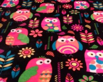 Owl Micro Fleece twin size throw blanket
