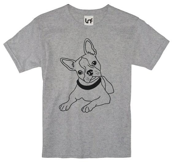 boston terrier outline printed men 39 s t shirt sb1179