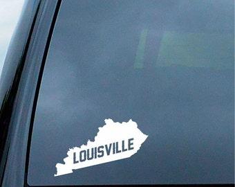 Louisville Kentucky State Sticker For Car Window, Bumper, Or Laptop