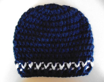 Newborn boy hat, navy baby hat, hospital hat boy, baby boy hat, winter baby hat boy, newborn outfit, newborn boy crochet baby hat, boys hats