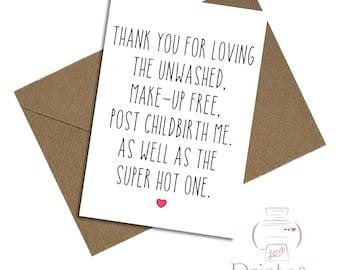 Birthday card boyfriend friend anniversary blank inside funny joke humour childbirth