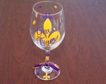 Geaux Tigers Glassware, Wine, Beer, Coffee mugs, Martini, Margarita glasses