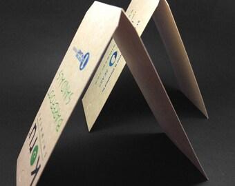 500 fold hang tags, center fold tags, Fold hang tags