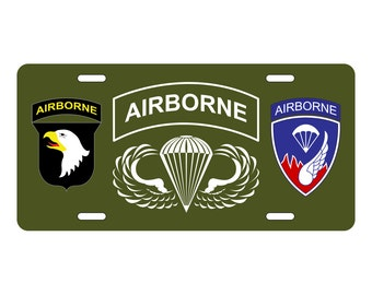 Airborne License Plate 101st / 187th