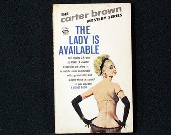 The Lady Is Available by Carter Brown, Vintage 1963 Printing Signet Books Paperback Mystery/Adventure #S2244 SCARCE!