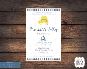 Princess Cinderella Invitation- DIGITAL DOWNLOAD