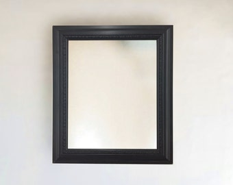 Classic Black Framed Wall Mirror | Sizes: 8x10, 11x14, 16x20, 24x26, 24x36, 20x40,  custom sizes small to large