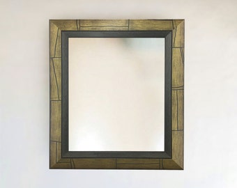 Contemporary Architectural Painted Framed Mirror Green Tone | Sizes: 11x13, 14x17, 19x23, 27x29, 27x39, 23x43, 33x39, + More & Custom!