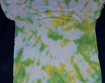 Green And Yellow Adult M Tie Dye T Shirt