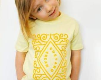 Custard Cream Cute Kids Top/ Biscuit Girls T-shirt by Baby Moo's