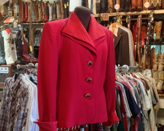Vintage 1980s Christian Dior Jacket sz.12 in Good Vintage Condition