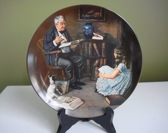 Vintage Collector Plate - Norman Rockwell - The Storyteller - 1984 - Epsteam